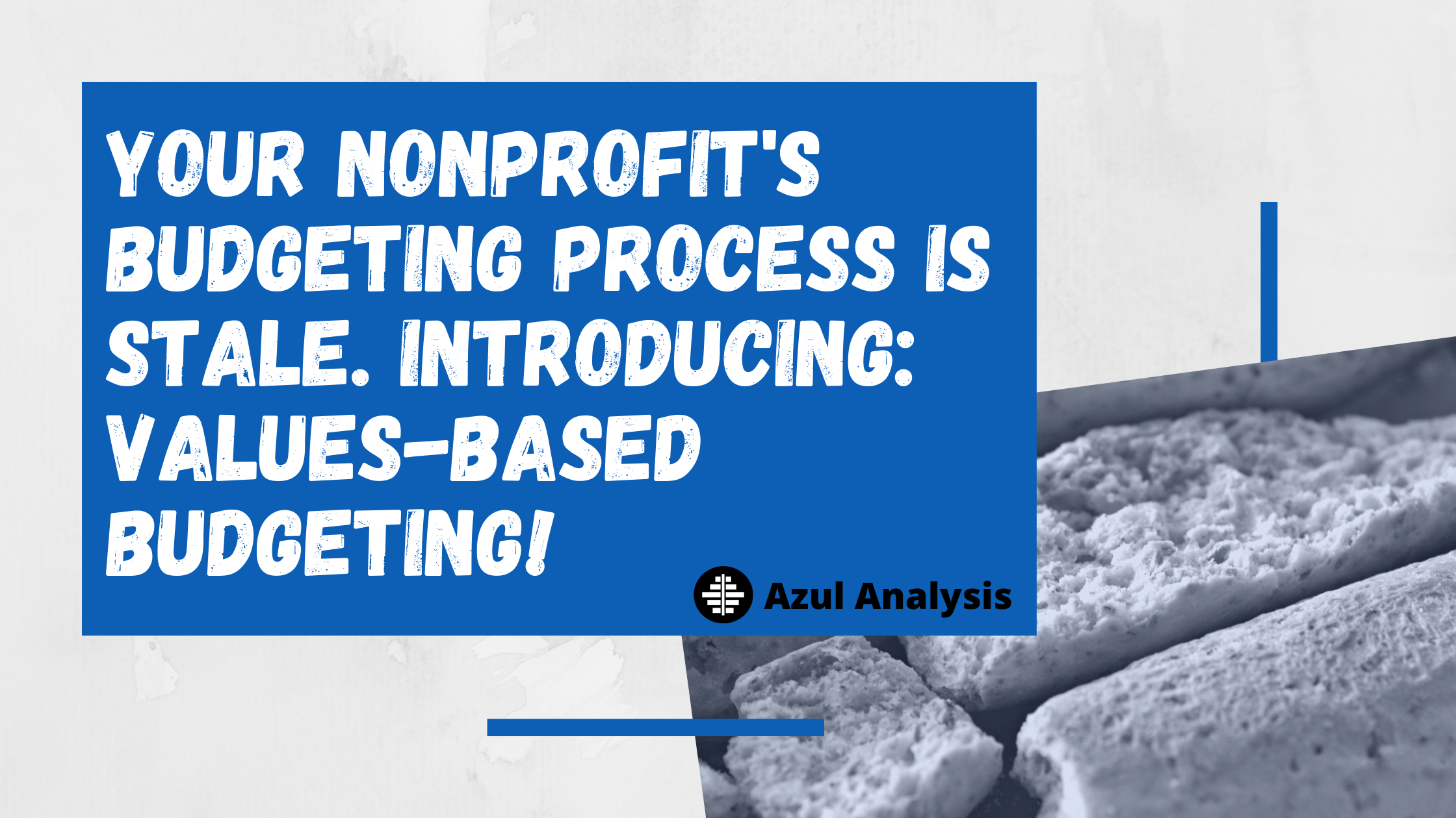 Blog Header: Your Nonprofits's Budgeting Process is Stale. Introducing: Values-Based Budgeting!